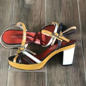 Marc Jacobs leather  strappy heels sandals